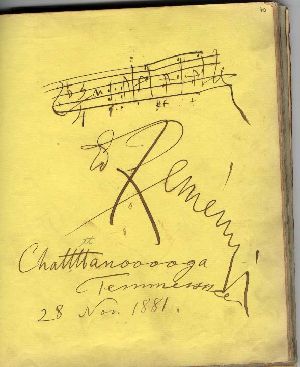 Signature book entry
